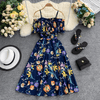 Off Shoulder Midi Dress Floral Print Summer Dress Dresses Daisy Dress For Less