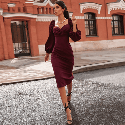 Off The Shoulder Midi Dress V Neck Bodycon Dress Dresses Daisy Dress For Less
