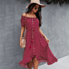 Off The Shoulder Summer Dress Polka Dot Dress Dresses Daisy Dress For Less