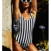 One Piece Striped Swimsuit Backless Swimwear Swimsuits Daisy Dress For Less