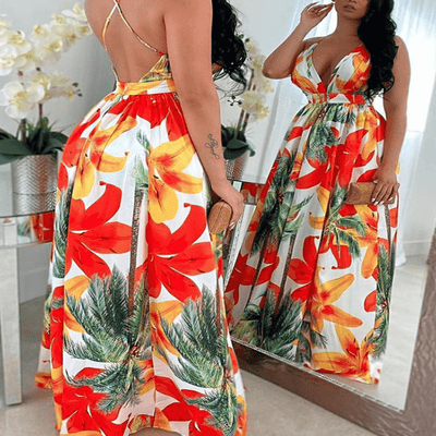 Open Back Long Dresses Floral Summer Maxi Dress Dresses Daisy Dress For Less