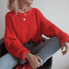 Oversized Chunky Knit Sweater Round Neck Pullover Pullovers Daisy Dress For Less