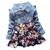 Patchwork Denim Floral Girls Kids Dresses Girls Dresses Kids Now Apparel