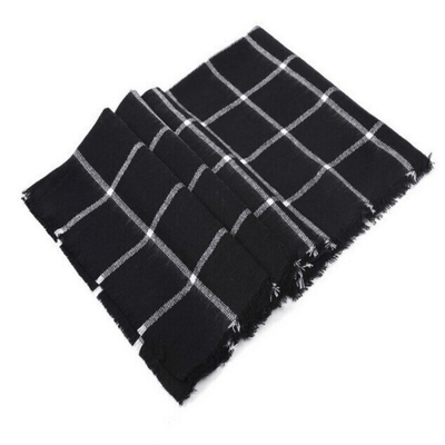 Plaid Blanket Scarf Women Wrap Shawl Women's Scarves Daisy Dress For Less