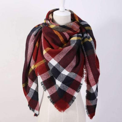 Plaid Fringe Scarf For Women Scarves Daisy Dress For Less