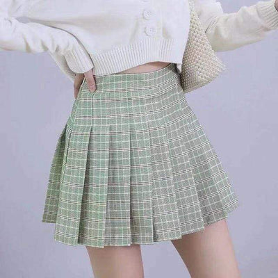 Pleated Skirt For Women High Waist Plaid Mini Skirt Skirts Daisy Dress For Less