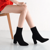 Pointed Toe Ankle Booties Thick Heel Ankle Boots Ankle Boots Daisy Dress For Less