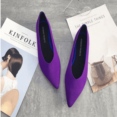 Pointed Toe Flats For Women Stretch Knit Shoes Women's Flats Daisy Dress For Less
