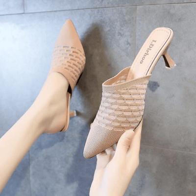 Pointed Toe Mules Women Heels Stilettos High Heels Sandals Daisy Dress For Less