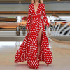 Polka Dot Maxi Dresses Long Sleeve High Slit Dress Dresses Daisy Dress For Less