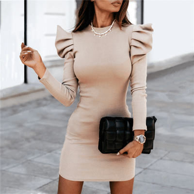 Puff Sleeve Dresses Ribbed Knit Bodycon Dress Dresses Daisy Dress For Less