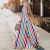 Rainbow Striped Maxi Dress Backless Flowy Dress Dresses Daisy Dress For Less