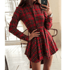 Red Plaid Dress Asymmetric Shirt Dress Dresses Daisy Dress For Less