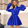 Satin Wrap Dress For Women A Line Mini Dress Dresses Daisy Dress For Less