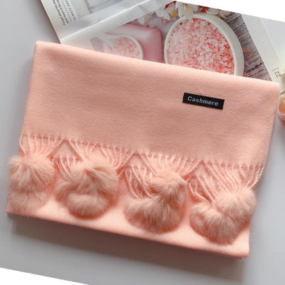 Scarves For Women Faux Fur Pom Pom Scarf Women's Scarves Daisy Dress For Less