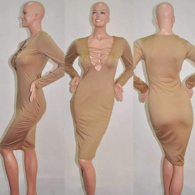Sexy Criss Cross Cut Out Cleavage Bandage Fall Dress Bandage Dress Daisy Dress For Less
