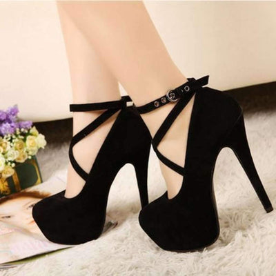 Sexy Cross Strap High Heeled Shoes Shoes Daisy Dress For Less