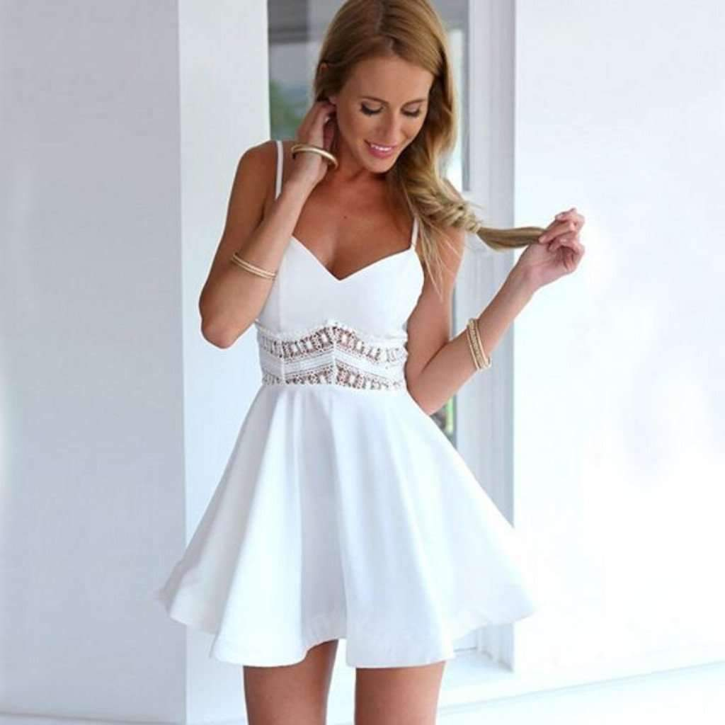 All White Sexy Dresses
