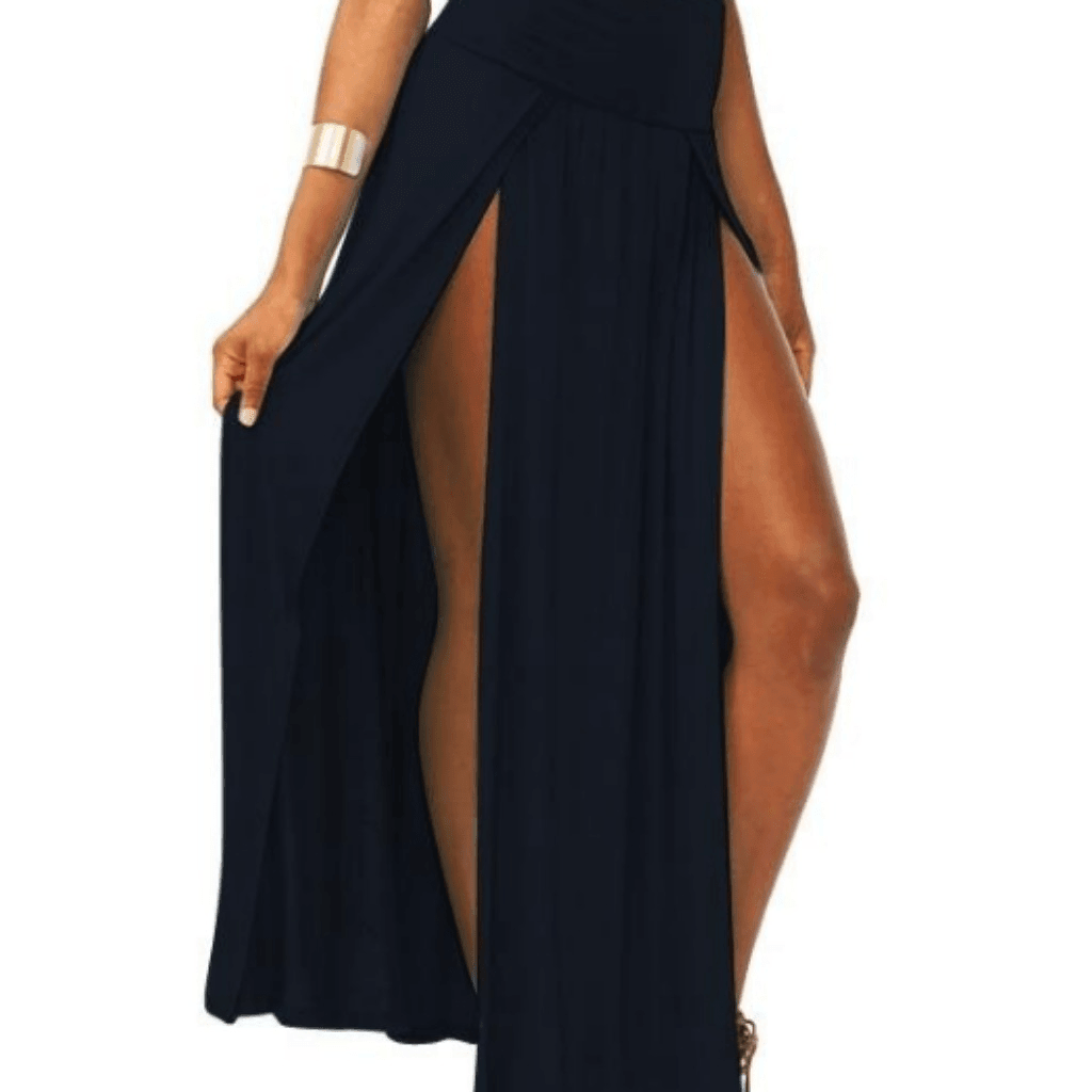 30016e842fcdf9 Sexy High Waisted Double Slits Maxi Skirt