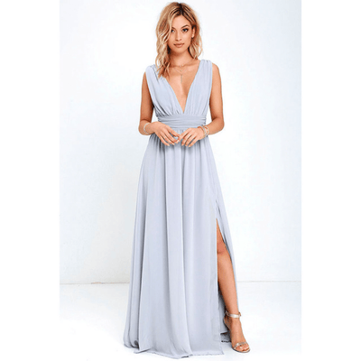 Sleeveless V Neck Dress High Slit Party Dress Dresses Daisy Dress For Less