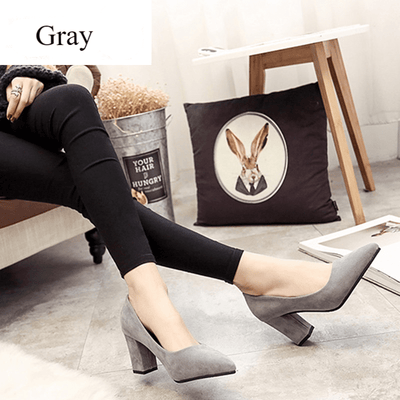 Slip On Shoes For Women Pointed Toe Block Heel Pumps Women's Pumps Daisy Dress For Less