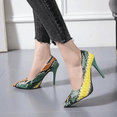 Slip On Shoes For Women Snakeskin Stiletto Shoes Women's Shoes Daisy Dress For Less