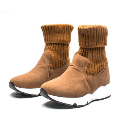 Sock Boots For Women Warm Suede Boots Ankle Boots Daisy Dress For Less