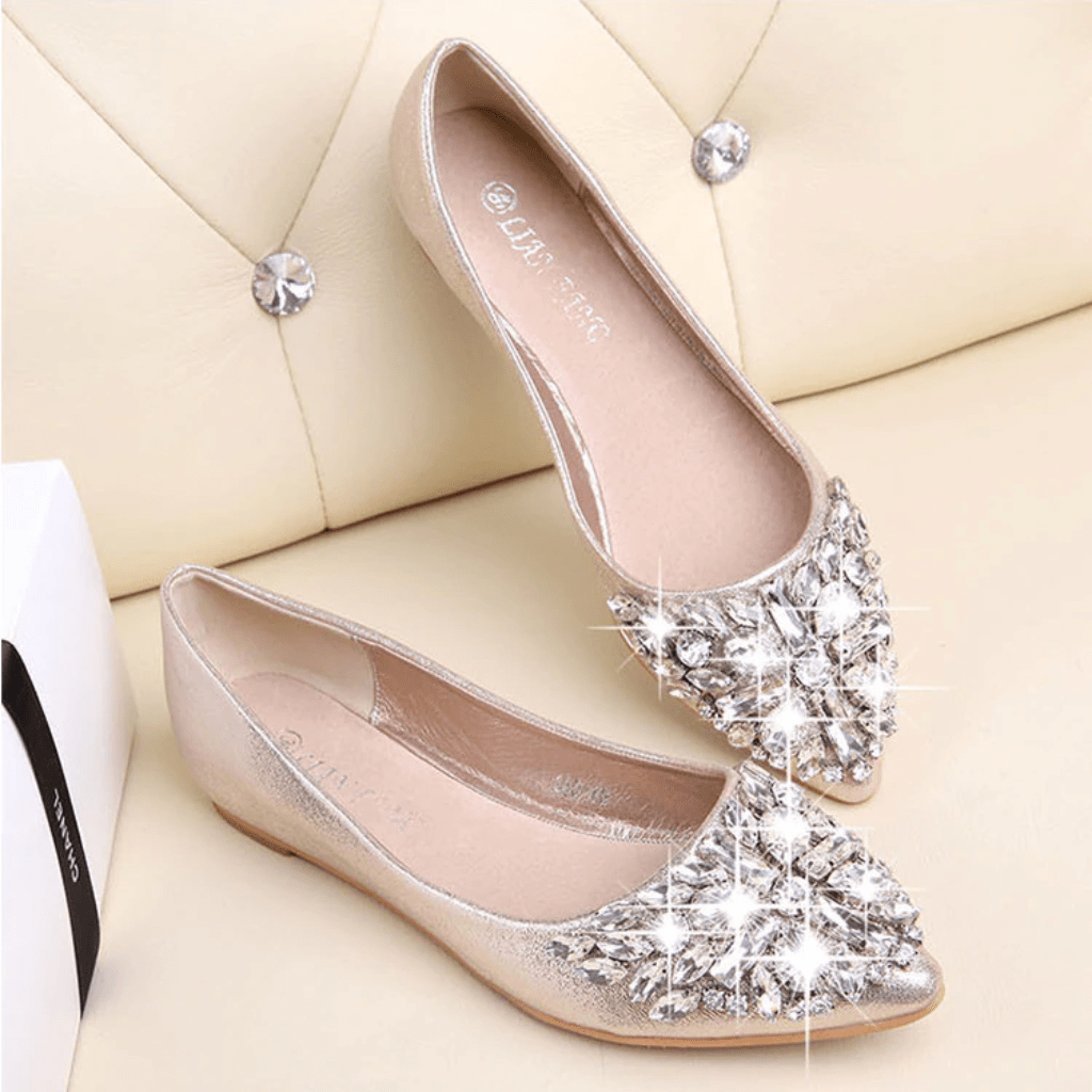 womens flat sparkly shoes