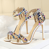 Studded High Heel Sandals Womens Stiletto Gladiator High Heels Daisy Dress For Less