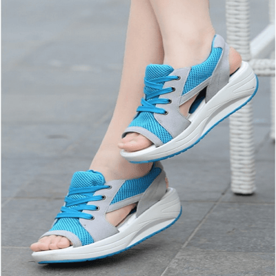 Summer New Fish Head Wedge Sandal Sandals Daisy Dress For Less