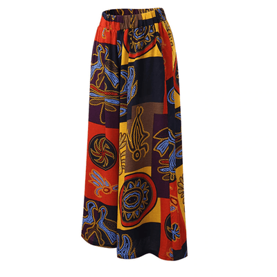 Summer Wide Leg Pants Womens Printed Trousers Pants & Capris Daisy Dress For Less