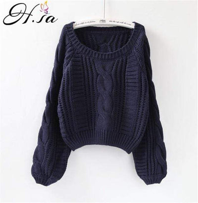 Thick Knitted Sweater Womens Pullover Pullovers Daisy Dress For Less