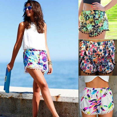 Tropical Floral Print Tassel Women Shorts Shorts Daisy Dress For Less