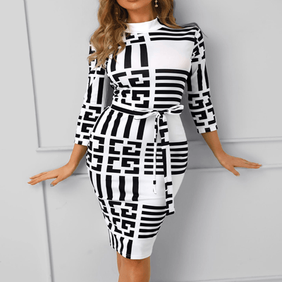 Turtleneck Bodycon Dress Quarters Sleeve Midi Dress Dresses Daisy Dress For Less
