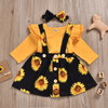 Two Piece Clothing Set Sunflower Print Baby Clothes Clothing Sets Kids Now Apparel