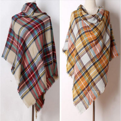 Warm Cashmere Plaid Women Scarf Scarf Daisy Dress For Less