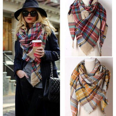 Daisy Dress For Less Scarf Warm Cashmere Plaid Women Scarf