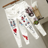 White Denim Jeans Stretchy Skinny Pants Jeans Daisy Dress For Less