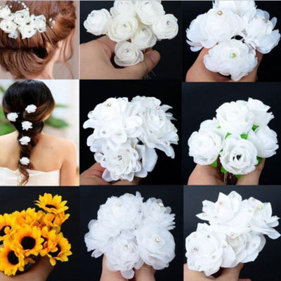 White Rose Women Wedding Hairpin Hairpin Daisy Dress For Less