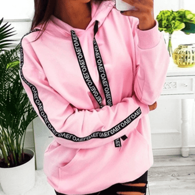 Women's Pullover Hoodie Letter Print Sweatshirt Hoodies & Sweatshirts Daisy Dress For Less