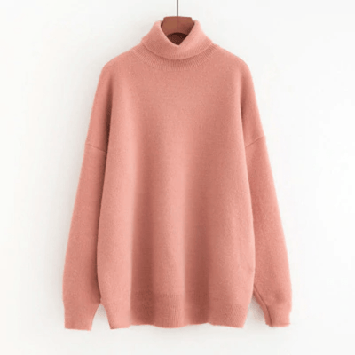 Women's Turtleneck Sweaters Oversized Knit Pullover Pullovers Daisy Dress For Less