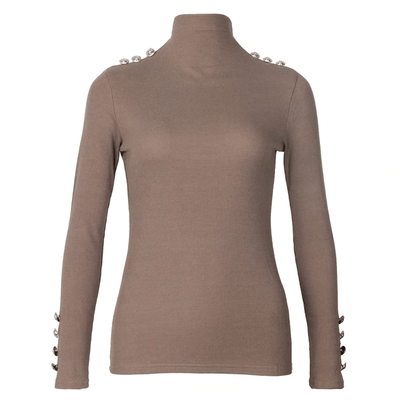 Women Turtleneck Sweaters Button Knitted Pullover Pullovers Daisy Dress For Less