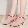Womens Ankle Boots Low Heel Suede Ankle Boots Ankle Boots Daisy Dress For Less