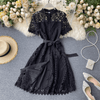 Womens Lace Dress With Sleeves Button Down Mini Dress Dresses Daisy Dress For Less