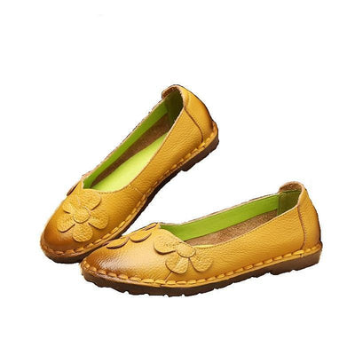 Womens Leather Flat Shoes