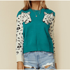 Womens Leopard Sweater Long Sleeve Pullover Pullovers Daisy Dress For Less