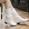 Womens Mid Calf Boots Patent Leather Boots Mid-Calf Boots Daisy Dress For Less