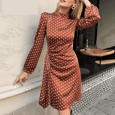 Womens Mini Dress Long Sleeve Polka Dot Dress Dresses Daisy Dress For Less