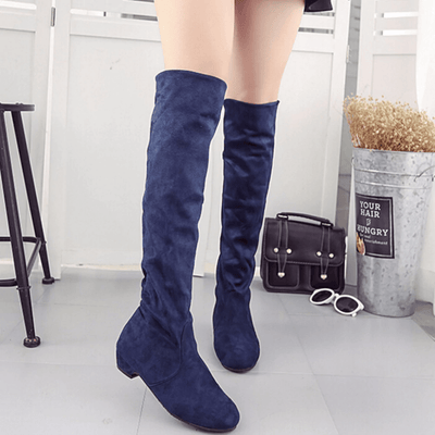 Womens Over The Knee Boots Slip On Suede Boots Over-the-Knee Boots Daisy Dress For Less