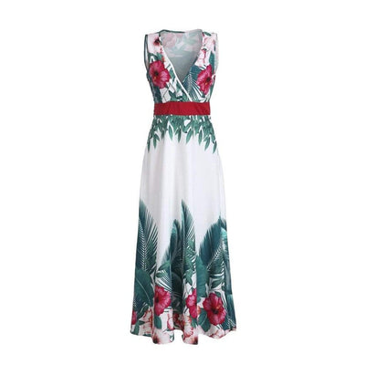Womens Sleeveless Maxi Dress V Neck Floral Print Dresses Daisy Dress For Less